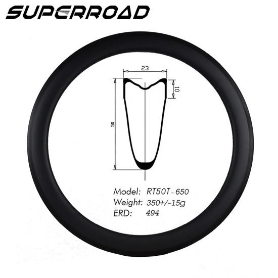 clincher Tubular carbon 650c rim